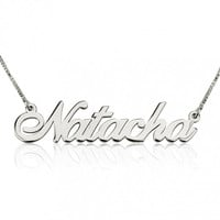 Sterling Silver Name Necklace Alegro Font