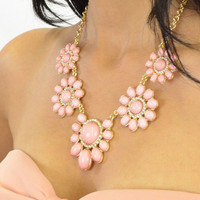 Magic Crush Pink Flower Necklace