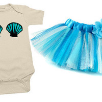 Mermaid 2 Piece Tutu Costume