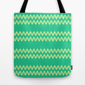 Artistic stripes on aqua green Tote Bag by cycreation