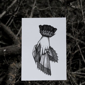 Mourning hand - Print