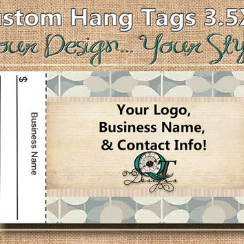 Vintage Retro Print Custom Hang Tag Business Card Style Printing  Matte  3.5 x 2 inch cards Design services  Sales Tags Shop Tags
