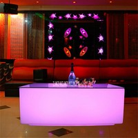 New Creative Colorful LED Bar Table KTV Coffee Table Remote Control Color Change 16-Color Led Light Bar Table 4400mAh 8-10 Hours