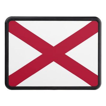 Patriotic hitch cover with Flag of Alabama