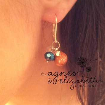 Football Earrings- Pick your team color