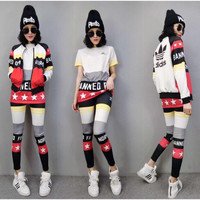 "3 Pcs set ""Adidas"" Fashion Leisure Movement Suit"