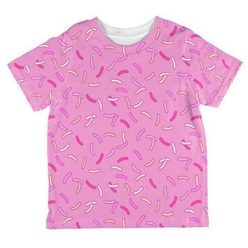 ESBGQ9 Pastel Strawberry Sprinkles All Over Toddler T Shirt