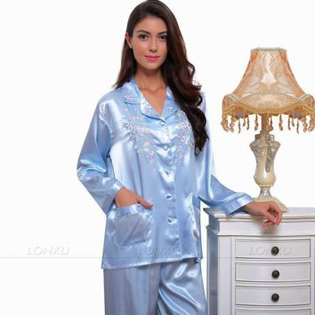 Womens Silk Satin Pajamas Pajama Pyjamas  Set  Sleepwear Set  Nightwear  Loungewear   XS S M L XL 2XL 3XL  Plus