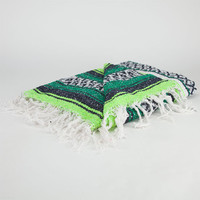 Bright Stripe Serapa Blanket Green One Size For Men 24546850001