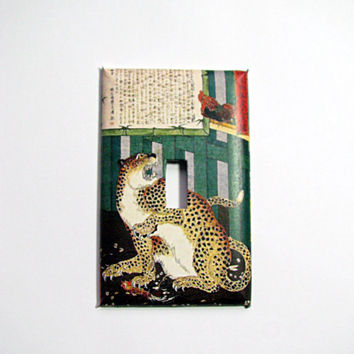 Light Switch Cover - Light Switch Plate Japanese Cat & Rooster