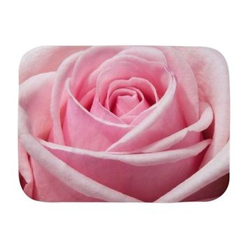 LIGHT PINK ROSE CLOSE UP BABY BLANKET