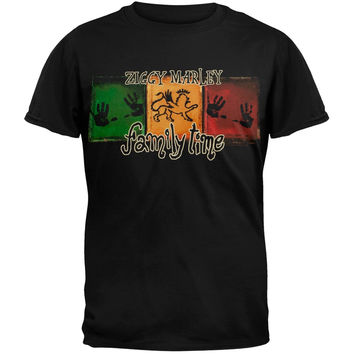 Ziggy Marley - Family Time Adult Soft Black T-Shirt