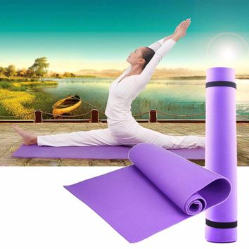 Hot EVA Yoga Mat Exercise Pad 6MM Thick Non-slip Gym Fitness Pilates Supplies For Yoga Exercise 68x24x0.24inch free shipping