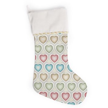 "Julia Grifol ""My Hearts"" Multicolor Christmas Stocking"