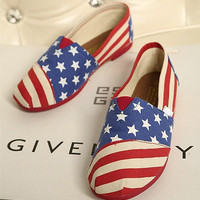 [grxjy5190001]Leisure American flag canvas shoes