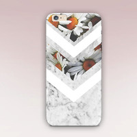 Floral Marble Phone Case  - iPhone 6 Case - iPhone 5 Case - iPhone 4 Case - Samsung S4 Case - iPhone 5C - Tough Case - Matte Case - Samsung