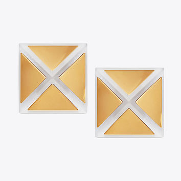 Tory Burch Geo Pyramid Stud Earring