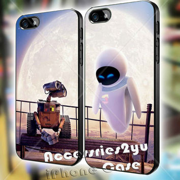 Wall-E And Eve Couple love MJM iPhone 4, iPhone 4s, iPhone 5, iPhone 5s, iPhone 5c, Samsung Galaxy S3, Sasmsung Galaxy S4 Case