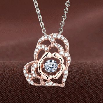 Rose Gold Plated Multi Luxury Swarovski Crystal Necklace