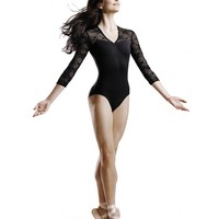 Bloch Kate 3/4 V-front Neck Dance Leotard