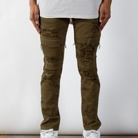 Olive Dime Denim | Taper Fit