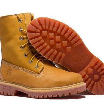 Timberland Rhubarb Boots Keep Warm Yellow Waterproof Martin Boots