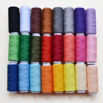 24Colors 200 Yard Polyester Sewing Threads Embroidery Sewing Threads for Sewing Machine Hand Threads Craft