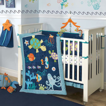 Lambs & Ivy Bubbles and Squirt Crib Bedding Collection