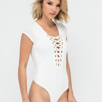 Chest Exam Lace-Up Thong Bodysuit GoJane.com