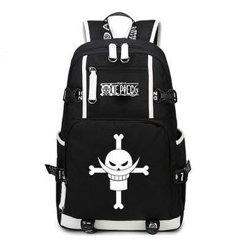 Anime Backpack School 2018 new kawaii cute One Piece Luffy Backpack Teenage Gir women Cosplay Zoro Chopper Law Canvas Schoolbag men shoulder Travel Bag AT_60_4