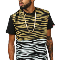 Breezy Excursion La Zebra Panel Tee