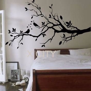 Birds on a Branch Tree Birds Giant Wall Sticker Vinyl Art Decal Window Door Kitchen Stencil Children Nursery Decor Mural
