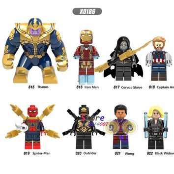 Star Wars Force Episode 1 2 3 4 5 50pcs marvel Avengers Infinity War Iron Man Lady Death Captain America Outrider Glaiva Spider Man building blocks toy for boys AT_72_6