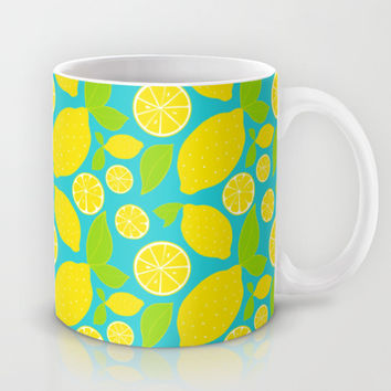 Fresh Lemons Mug by Ariel Lark