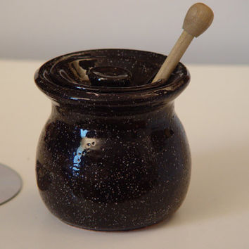 Made to Order, Sugar Bowl / Honey Jar, Choice of colors, pottery, Wheel Thrown Stoneware ceramic