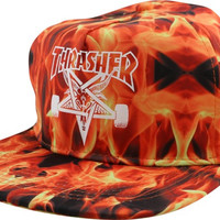 Thrasher Sk8Goat Inferno Hat Adjustible Fire