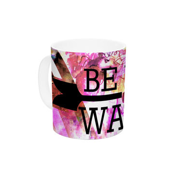 "Ebi Emporium ""Be Wild and Wander"" Pink Ceramic Coffee Mug"