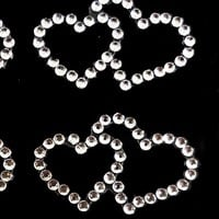 Vajazzle Body Crystals - 6 x Double Hearts | Find Me A Gift