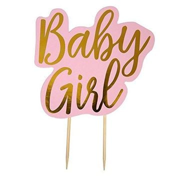 Pattern Works Pink Baby Girl Cake Topper