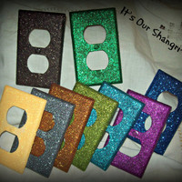 Glitz and Glamour Outlet covers~ Glittery Outlet Covers, Wall Decor