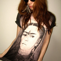Frida Kahlo Mexican Icon Art Pop Rock TShirt Size M by sixwas9ine
