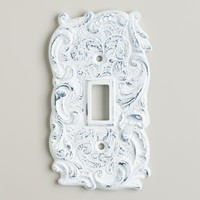 Single White Cast Iron Switch Plate - World Market
