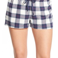 BP. Undercover Plaid Flannel Sleep Shorts | Nordstrom