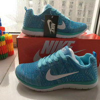 """Nike"" Fashion Casual  Unisex Breathable Comfortable Fly Weave Couple Sneakers Running Shoes"