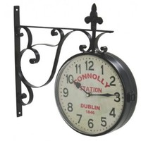 Vintage Connolly Railway Station Clock - Reproduction - Dublin, Ireland