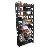 Home Basics 30 Pair Shoe Rack In Black - Beyond the Rack