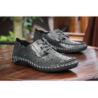 Perforated Center Tie Leather Moccasin