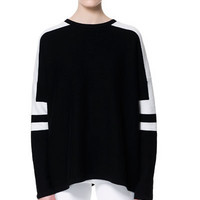 OVERSIZED STRIPED SWEATER - Knitwear - Woman | ZARA United States