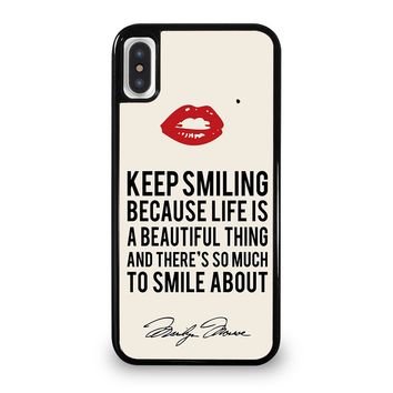 MARILYN MONROE QUOTES iPhone 5/5S/SE 5C 6/6S 7 8 Plus X/XS Max XR Case Cover
