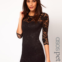 ASOS Petite | ASOS PETITE Slash Neck Lace Dress at ASOS